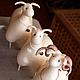 Миниатюра ручной работы. Заказать Барашек войлочный Рогатый, овечки и бараны. Мордвинкова Мария (teddysoul). Ярмарка Мастеров. Овца, баран