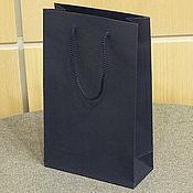 Пакеты ручной работы. Ярмарка Мастеров - ручная работа 19х30х8 - пакет синий с ручками веревочными. Handmade.