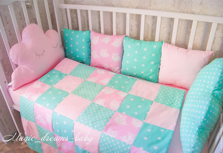 Бортики в кроватку для новорожденных из подушек своими руками 11
