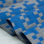 "Аксессуары handmade. Livemaster - original item Серо-голубой  узкий  мужской шерстяной  шарф ""В дорогу"". Handmade."