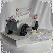 """Свадебный салон ручной работы. Ярмарка Мастеров - ручная работа коробка-открытка-конверт""""Белый кабриолет"""". Handmade."""