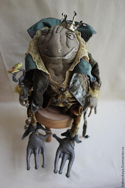 Коллекционные куклы ручной работы. Ярмарка Мастеров - ручная работа. Купить Цар жаб текстильный каркасный. Handmade. Царь, Хаберская