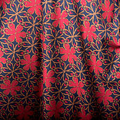 """Материалы для творчества ручной работы. Ярмарка Мастеров - ручная работа Трикотаж """"Бордовые цветы"""". Handmade."""