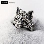 Украшения handmade. Livemaster - original item Silver ring Fox. Handmade.