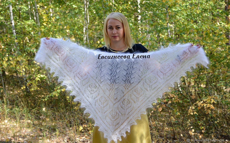 Openwork down scarf 'taiga fairy tale' handmade, Kerchiefs, Urjupinsk,  Фото №1
