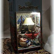 """Куклы и игрушки ручной работы. Ярмарка Мастеров - ручная работа Миниатюра """"Погладь кота"""". Handmade."""