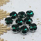 handmade. Livemaster - original item Rhinestones kushon 12 mm Emerald. Handmade.