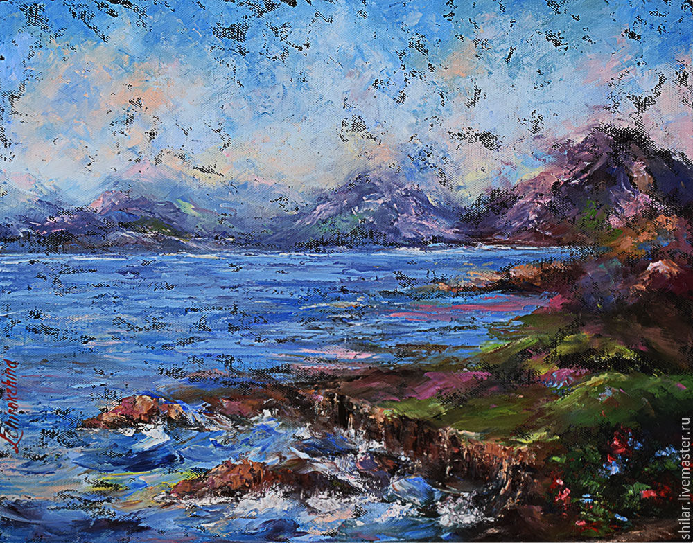 'Blue, blue sea' oil painting on canvas, Pictures, Asha,  Фото №1