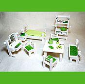 Куклы и игрушки ручной работы. Ярмарка Мастеров - ручная работа Набор мебели для кукольного дома или румбокса (миниатюра). Handmade.