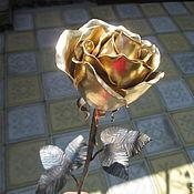 Цветы и флористика ручной работы. Ярмарка Мастеров - ручная работа Роза кованая. Handmade.