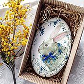 Сувениры и подарки ручной работы. Ярмарка Мастеров - ручная работа Пряник Пасхальный кролик. Handmade.