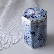 """Для дома и интерьера ручной работы. Ярмарка Мастеров - ручная работа коробка для чая """"бабочки"""". Handmade."""