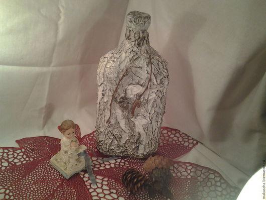 Подарочное оформление бутылок ручной работы. Ярмарка Мастеров - ручная работа. Купить Белая береза. Handmade. Чёрно-белый