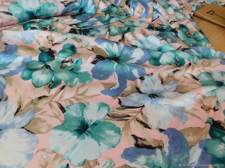 "Шелк Армани ""Цветы"", Ткани, Санкт-Петербург,  Фото №1"