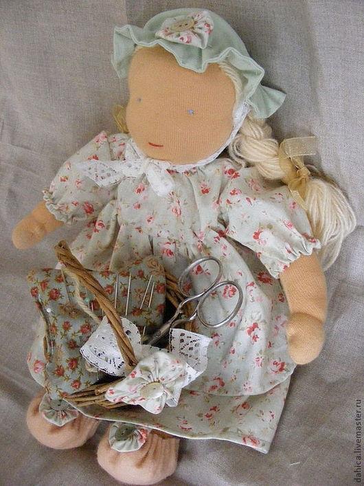 Вальдорфская игрушка ручной работы. Ярмарка Мастеров - ручная работа. Купить Вальдорфская кукла. Handmade. Вальдорфская кукла, кукла текстильная
