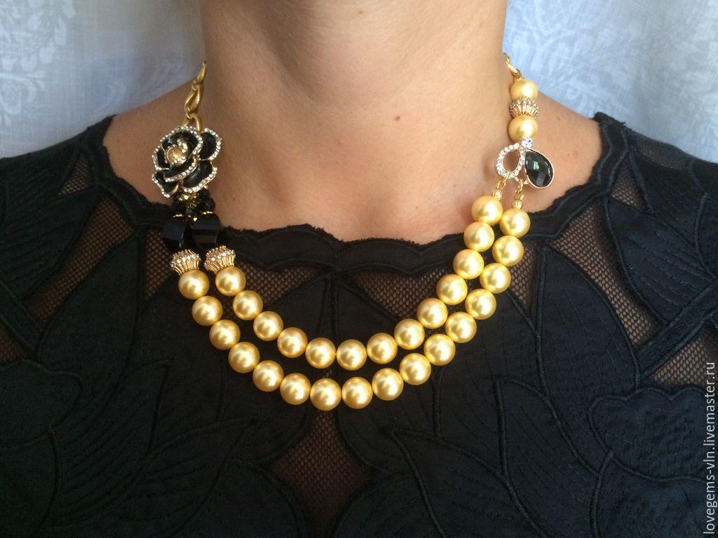 Ожерелье с бусинами своими руками фото 673