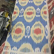 Материалы для творчества handmade. Livemaster - original item Uzbek cotton ikat hand weaving. FM058. Handmade.