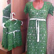 Одежда ручной работы. Ярмарка Мастеров - ручная работа комплект маме с дочкой. Handmade.