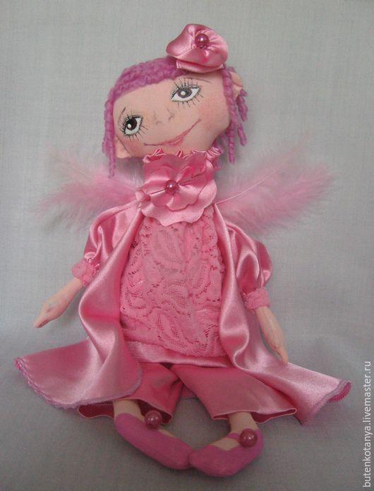 Человечки ручной работы. Ярмарка Мастеров - ручная работа. Купить Розовый Ангел. Handmade. Розовый, акриловые краски, шёлк