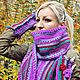 Комплект. Вязаный шарф и митенки. Шарфы. Ирина Леонова. Ярмарка Мастеров. Фото №4