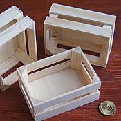 Куклы и игрушки ручной работы. Ярмарка Мастеров - ручная работа Ящик для миниатюр (3 шт). Handmade.