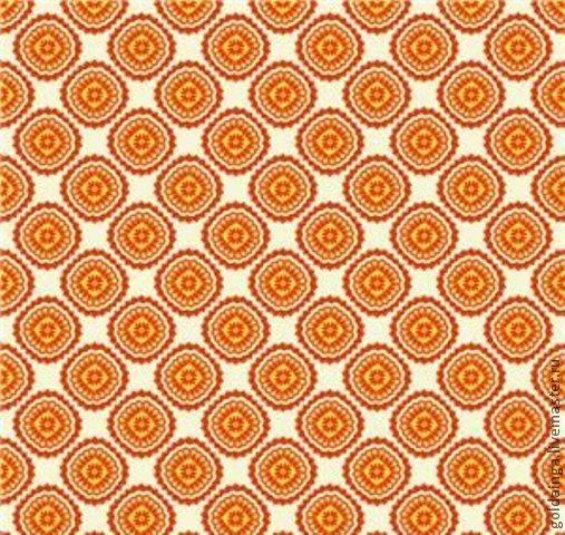 """Шитье ручной работы. Ярмарка Мастеров - ручная работа. Купить №135 американский хлопок """"оранжевые 1"""". Handmade. Оранжевый, хлопок"""
