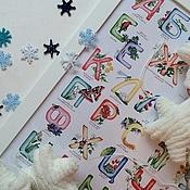"""Картины и панно ручной работы. Ярмарка Мастеров - ручная работа Авторский постер """"Алфавит"""". Handmade."""