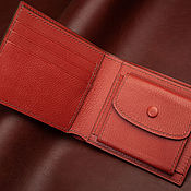 Сумки и аксессуары handmade. Livemaster - original item Genuine Goat Leather Wallet with Coin Pocket. Handmade.