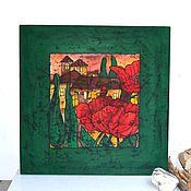 Картины и панно handmade. Livemaster - original item The picture panels, silk batik