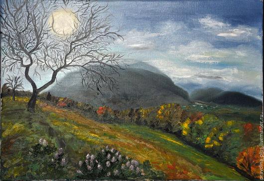 """Пейзаж ручной работы. Ярмарка Мастеров - ручная работа. Купить Картина маслом """"Осень в горах"""". Handmade. Разноцветный, картина маслом"""