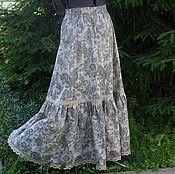 Одежда ручной работы. Ярмарка Мастеров - ручная работа Льняная летняя длинная юбка. Handmade.