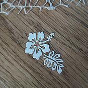 Материалы для творчества handmade. Livemaster - original item !Cutting for scrapbooking- HIBISCUS, FLOWERS, diz cardboard. Handmade.
