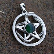 Фен-шуй и эзотерика handmade. Livemaster - original item A pentagram with a snake. Handmade.