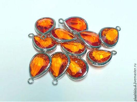 """Для украшений ручной работы. Ярмарка Мастеров - ручная работа. Купить Подвеска """"Апельсин в родии"""". Handmade. Рыжий, подвеска апельсин"""
