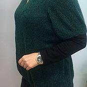 """Одежда ручной работы. Ярмарка Мастеров - ручная работа Вязаная кофта """"Изумрудная зима"""". Handmade."""