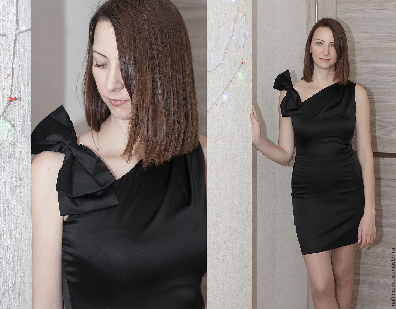 7cd9162c899 Платья ручной работы. Ярмарка Мастеров - ручная работа. Купить Маленькое  Черное платье с бантом ...