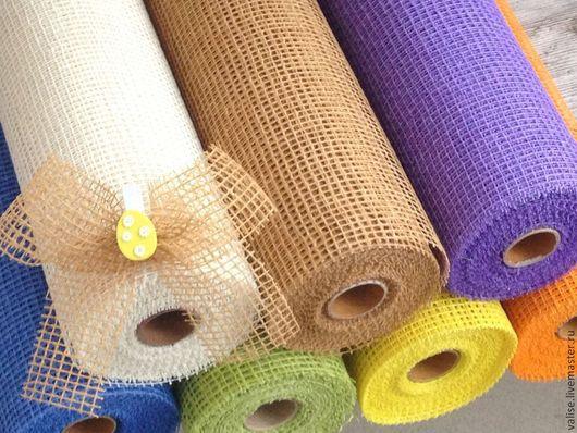 Другие виды рукоделия ручной работы. Ярмарка Мастеров - ручная работа. Купить Джутовая сетка (различные цвета). Handmade. Белый