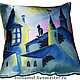 Текстиль, ковры ручной работы. Ярмарка Мастеров - ручная работа. Купить подушка Ночной город. Handmade. Подушка, синий