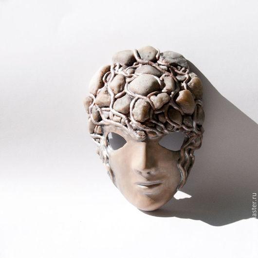 Интерьерные  маски ручной работы. Ярмарка Мастеров - ручная работа. Купить Декоративное панно Маска с камнями. Handmade. Интерьер