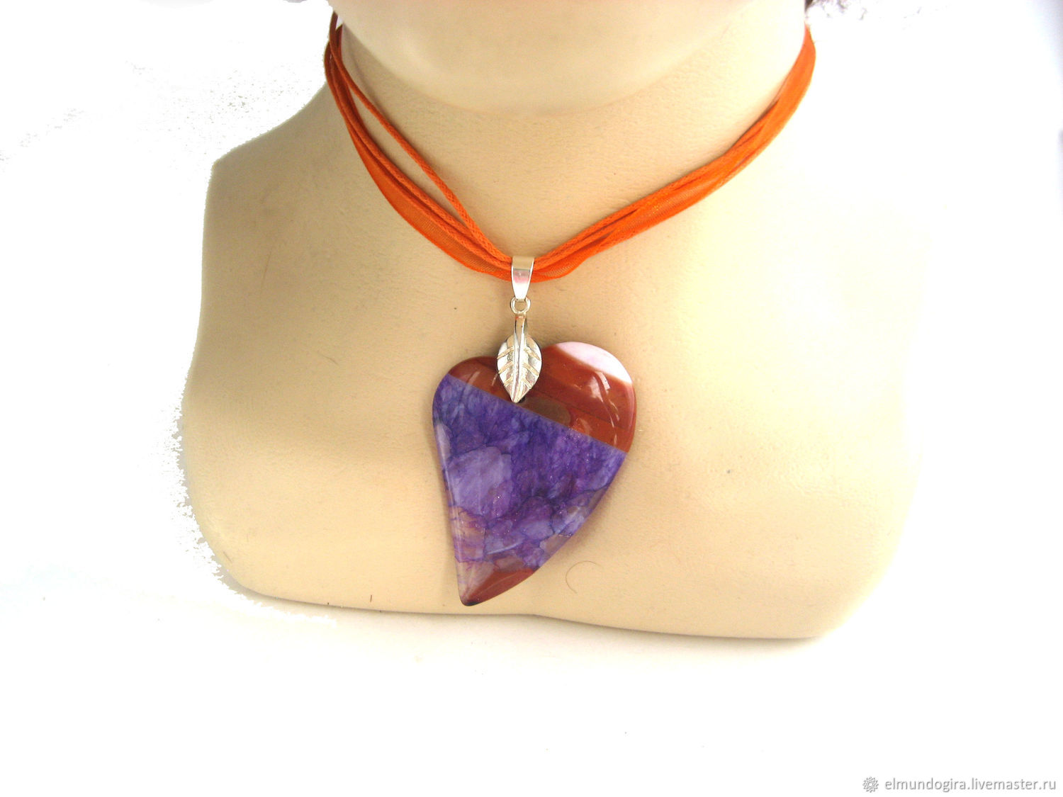 Purple Heart of agate Geode with Druze two colors Botswana, Pendants, Moscow,  Фото №1