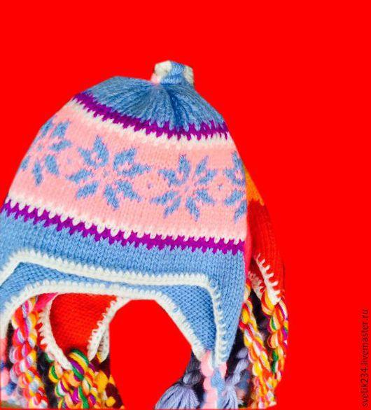 Шапки ручной работы. Ярмарка Мастеров - ручная работа. Купить Шапки вязаные. Handmade. Разноцветный, шерсть 100%