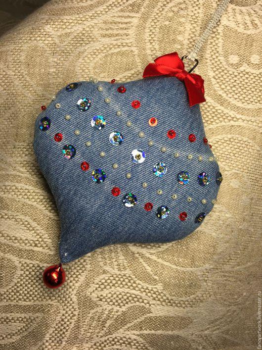 Новый год 2017 ручной работы. Ярмарка Мастеров - ручная работа. Купить Декоративные подвески - пики. Handmade. Комбинированный, серебряный