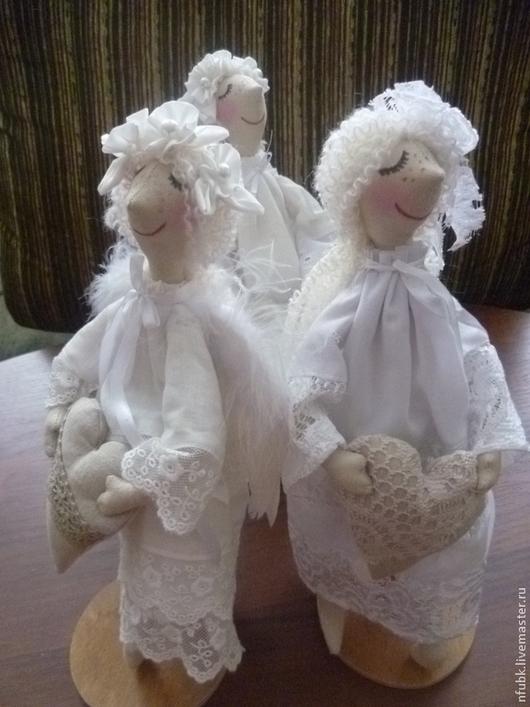 Коллекционные куклы ручной работы. Ярмарка Мастеров - ручная работа. Купить ангел сердечный. Handmade. Белый, подарок на любой случай