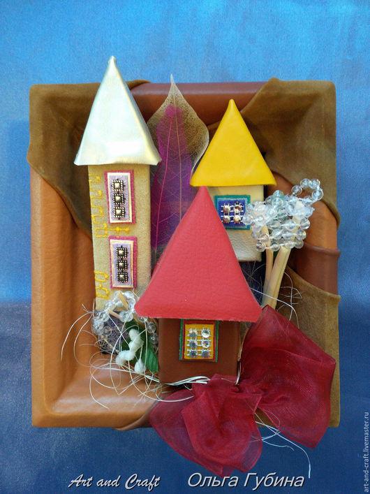 """Город ручной работы. Ярмарка Мастеров - ручная работа. Купить Миниатюра """"Сказочный городок"""". Handmade. Комбинированный, душевный подарок"""
