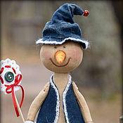 Подарки к праздникам ручной работы. Ярмарка Мастеров - ручная работа Кофейный снеговичок со снежинкой.. Handmade.