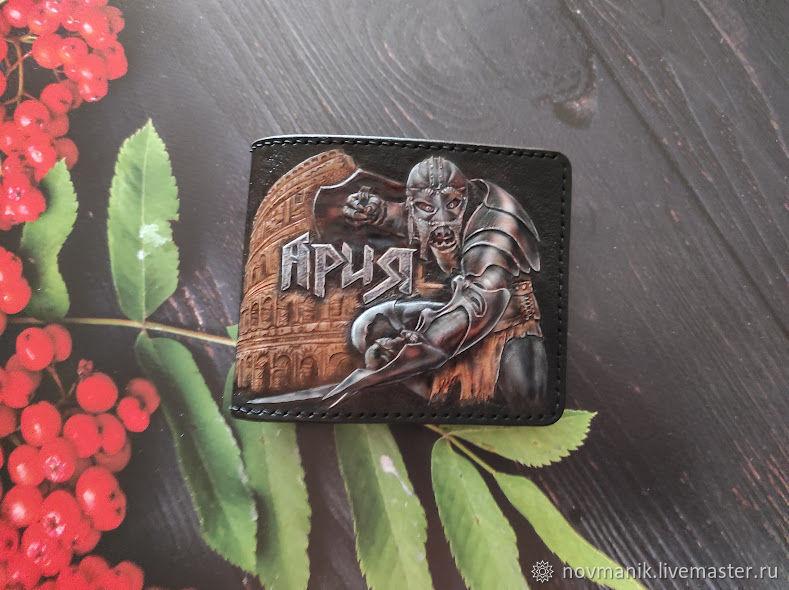 Портмоне (кошелек, бумажник) двойного сложения (Bi-fold wallet) № 54, Кошельки, Ковров,  Фото №1