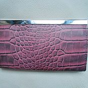 Сумки и аксессуары handmade. Livemaster - original item Women`s wallet genuine leather CROCO under. Handmade.