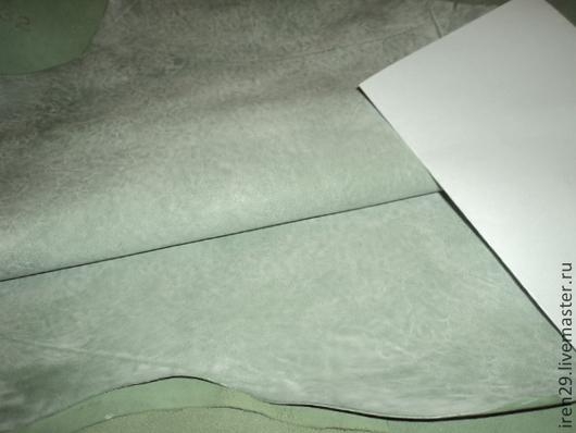 """Шитье ручной работы. Ярмарка Мастеров - ручная работа. Купить Натуральная кожа """"Припыленная зелень"""" матовая Botticelli. Handmade. Кожа"""