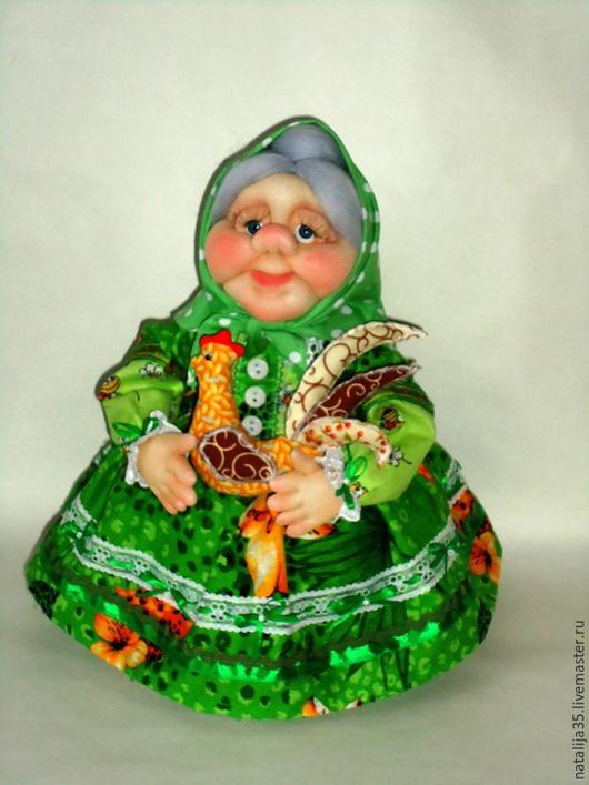 Кухня ручной работы. Ярмарка Мастеров - ручная работа. Купить Кукла на чайник - Бабушка. Handmade. Кукла на чайник, зеленый