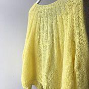 Одежда handmade. Livemaster - original item Lemon cardigan made of Italian mohair and alpaca wool. Handmade.